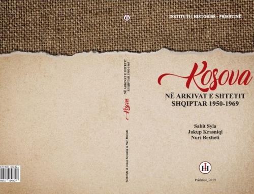 Instituti i Historisë, botoi librin e radhës Kosova në arkivat e shtetit shqiptar 1950-1969-Dokumente, përgatitur nga Sabit Syla, Jakup Krasniqi dhe Nuri Bexheti.